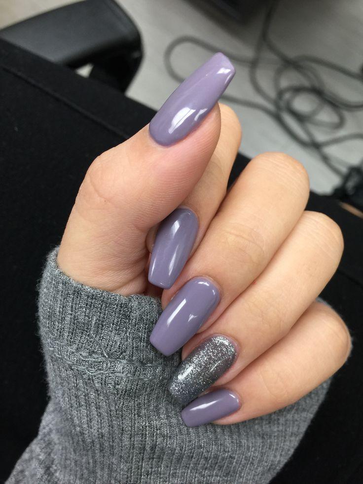 grey acrylic nails ideas