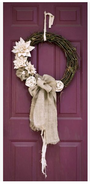 BEAUTIFUL winter wreath