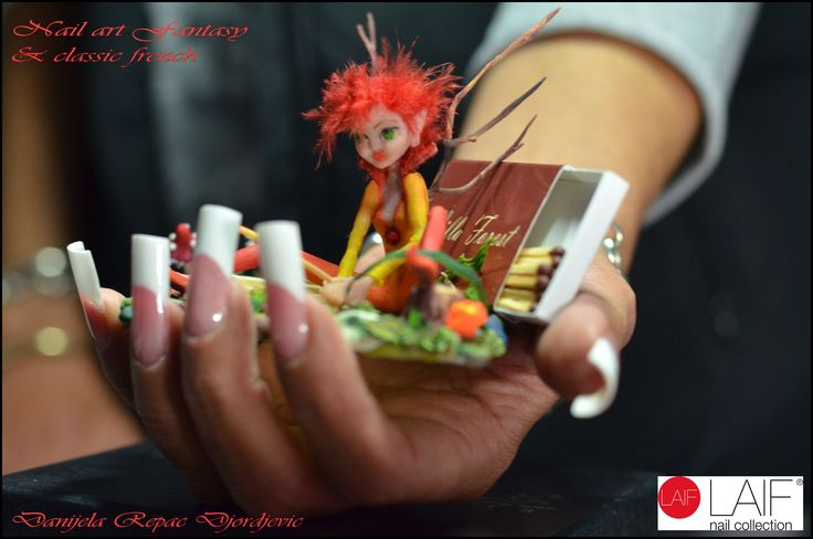 classic french nails and fantasy nail art