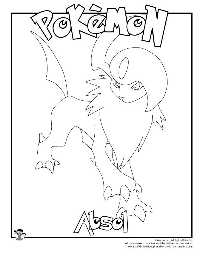 Pokemon Coloring Pages Absol Photos