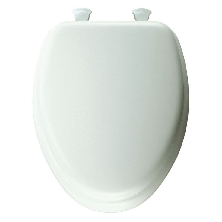 Mayfair 113 Elongated Padded White Toilet Seat - B113EC000