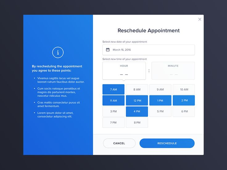 YourMechanic - Reschedule widget