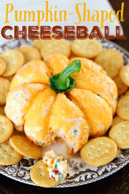 The Country Cook: Pumpkin {Shaped} Cheese Ball