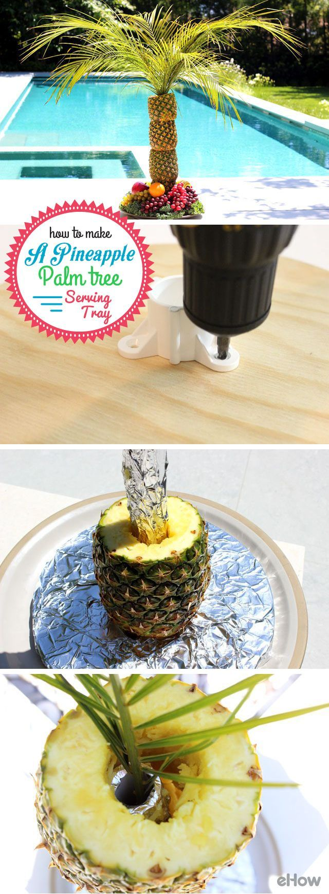 Amazing! DIY your own pineapple palm tree as the main centerpiece at any outdoor party, including tropical-themed luau's, showers, birthday parties and any summer occasion! Isn't this just beautiful? http://www.ehow.com/how_4530007_make-pineapple-palm-tree-serving.html?utm_source=pinterest.com&utm_medium=referral&utm_content=inline&utm_campaign=fanpage