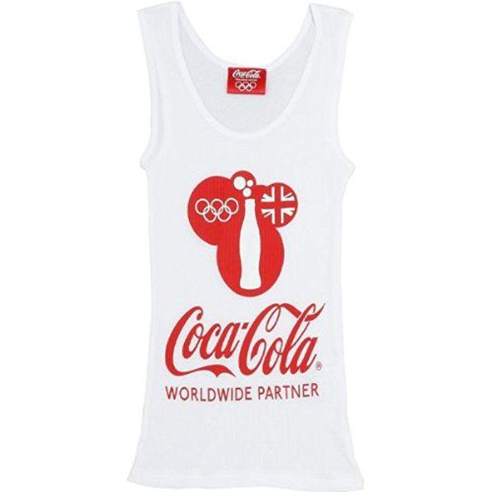 コカ・コーラ×ロンドンオリンピック レディースタンクトップ ホワイト