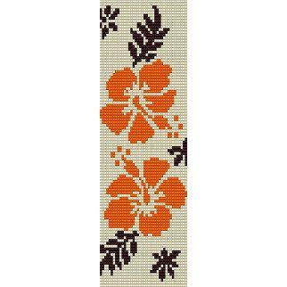 Peyote Loom Beading Pattern  Pacific Hibiscus by FunBeadingDesigns, $4.00