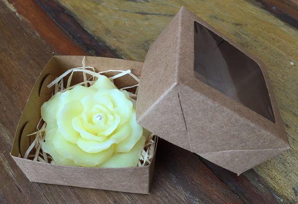 Sabonete de rosa na caixinha