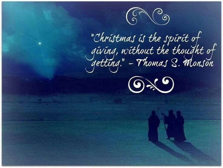 Get In The Spirit Christmas Lds Quotes: Christmas Is The Spirit Of Giving...