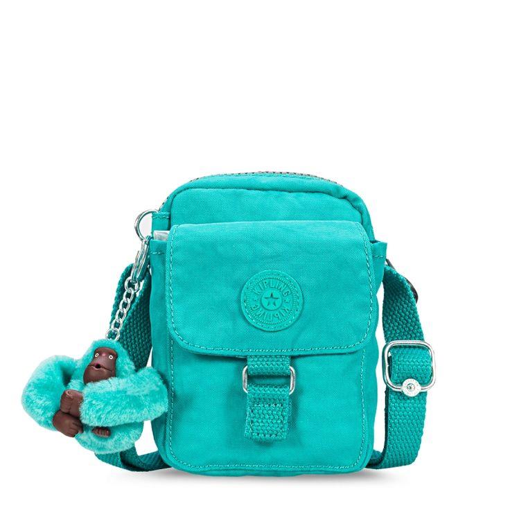 Bolsa De Ombro Rosa Vermelha   Kipling : Mini bolsa teddy turquesa cool turquoise kipling