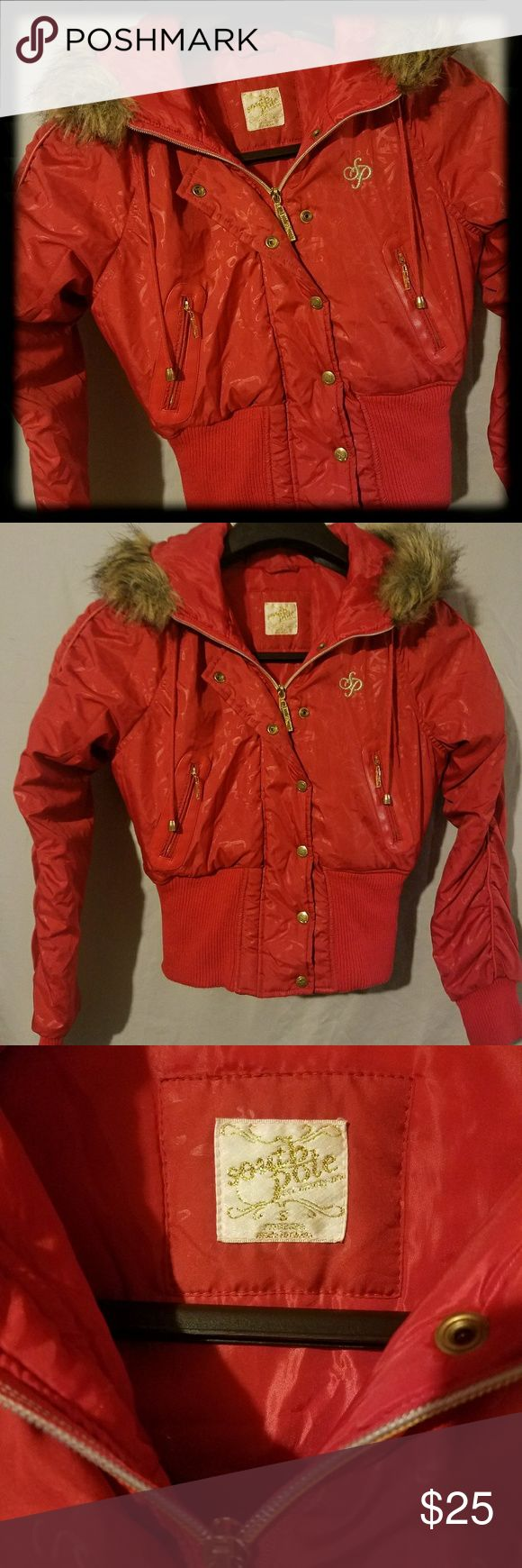 South Pole Women's Puffer Coat South Pole Women's Puffer Coat Sz Small. Sleeves gathered, with faux leather piping. Gold zippers, & snaps. Has slight discoloration on inside right cuff; not easily seen. Very good condition. South Pole Jackets & Coats Puffers