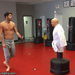 martial arts gifs  Um excuse me but I know SOMEONE that needs to do this at our dojang @lexibrinsfield