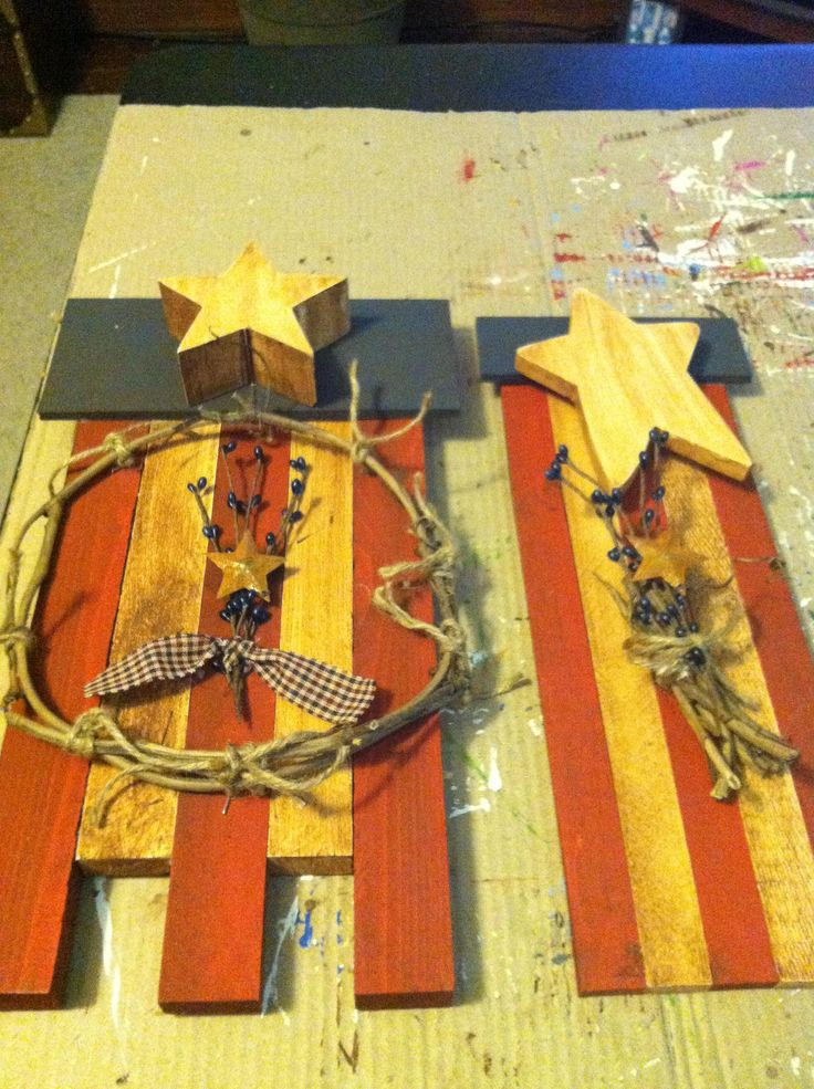 Had some scraps of wood and painted and glued. Added some decor