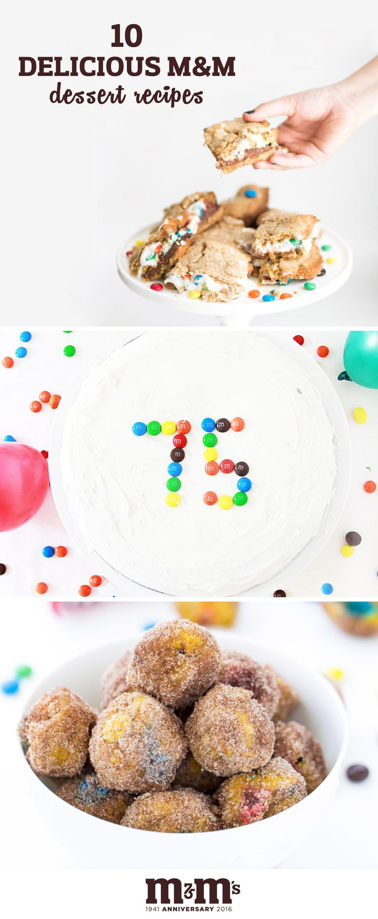 You name it, this collection of 10 Delicious M&M Dessert Recipes will have it! You'll find easy back-to-school homemade granola bars, pumpkin spice donut bites, s'mores cookie bars, and more when you check out these sweet treats using M&M's. Perfect for celebrating fall and putting a smile on your family's face! Plus, find everything you need to makes these at your local Kroger.