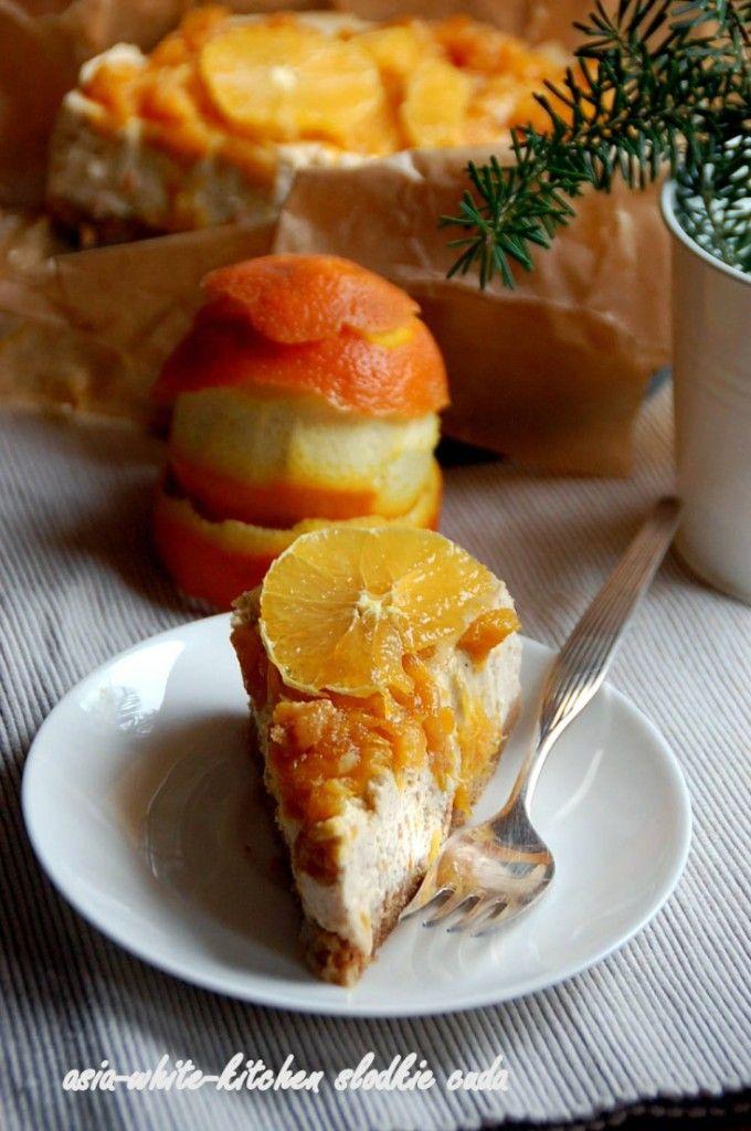 Sernik pomarańczowo cynamonowy
