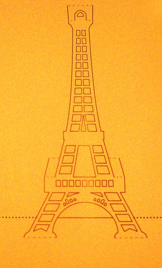 What The Ladies Want: TUTORIAL: BIGLIETTO KIRIGAMI TOUR EIFFEL (Tour Eiffel Kirigami Card)