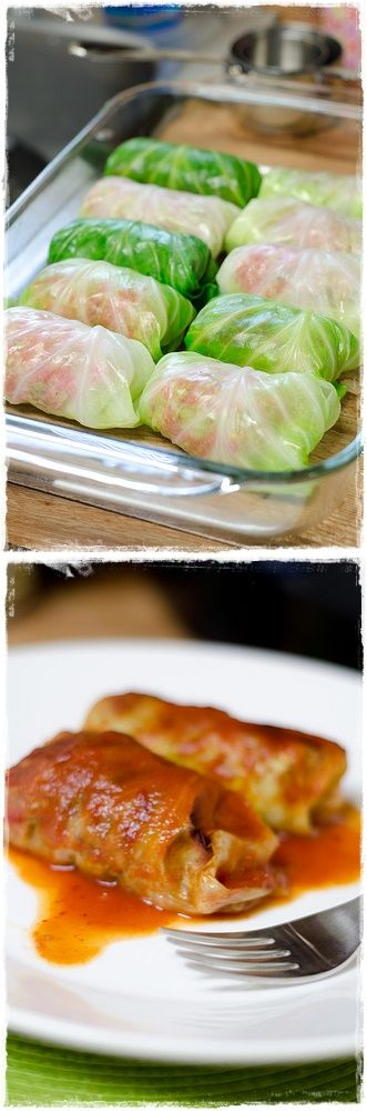 Stuffed Cabbage....i make this alot....except i boil mine