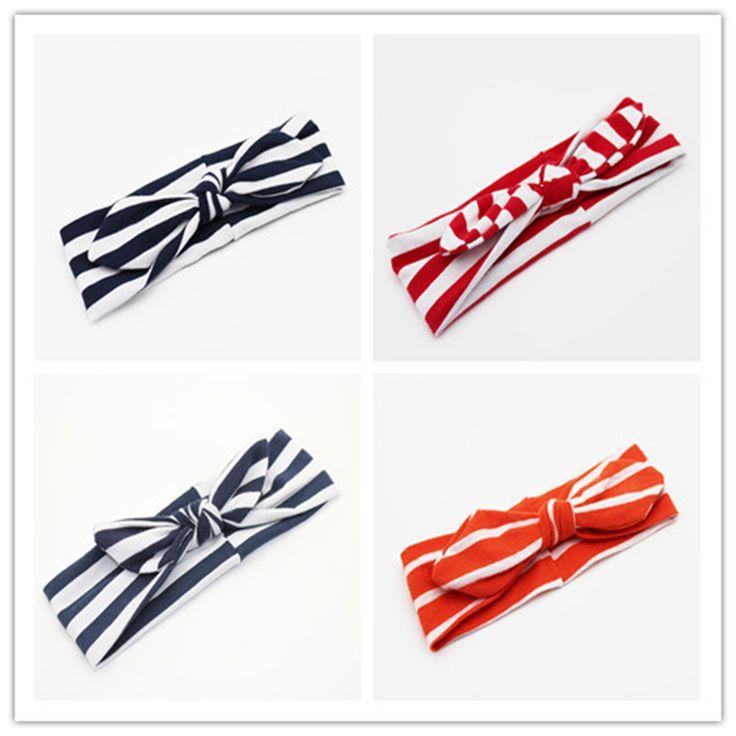 >> Click to Buy << 2017 New Fashion Striped Children Baby Hairband Turban Rabbit Ear Headband Headwear Hair Bands Hair Accessories Wholesale #Affiliate