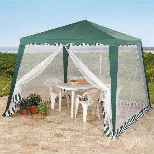 Brylanehome Jumbo Screened Gazebo by BrylaneHome. $54.99. Our Jumbo Screened Gazebo is mosquito-proof, fly-proof, ant-proof and all around bug-proof allowing you to enjoy the great outdoors without any unwelcome guests. Dine under this large gazebo's pavilion roof and polyester mosquito net sides for an uninterrupted and peaceful meal. And, thanks to its powder-coated tubular steel frame, the entire gazebo sets up in minutes- without any need for tools. For more ...