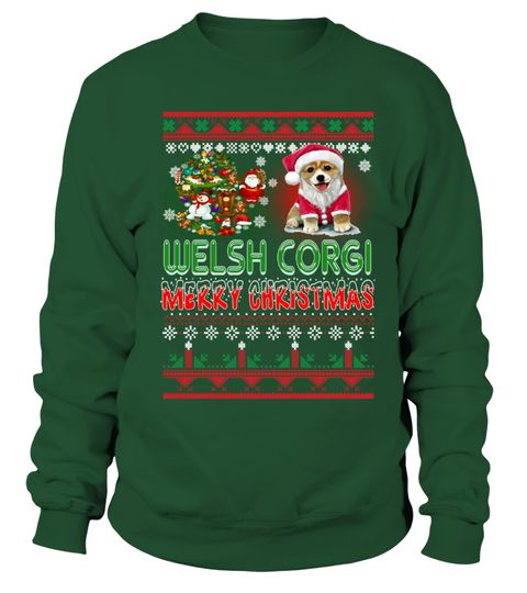 # WELSH CORGI Merry Christmas Hoodie .  HOW TO ORDER:1. Select the style and color you want: 2. Click Reserve it now3. Select size and quantity4. Enter shipping and billing information5. Done! Simple as that!TIPS: Buy 2 or more to save shipping cost!This is printable if you purchase only one piece. so dont worry, you will get yours.Guaranteed safe and secure checkout via:Paypal | VISA | MASTERCARD