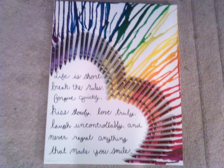 Crayon art! Could even do a Bible verse