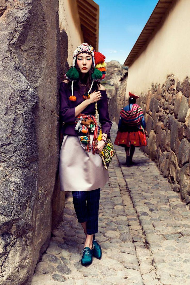 Tendência: Étnico – especialmente as cores e o estilo peruano