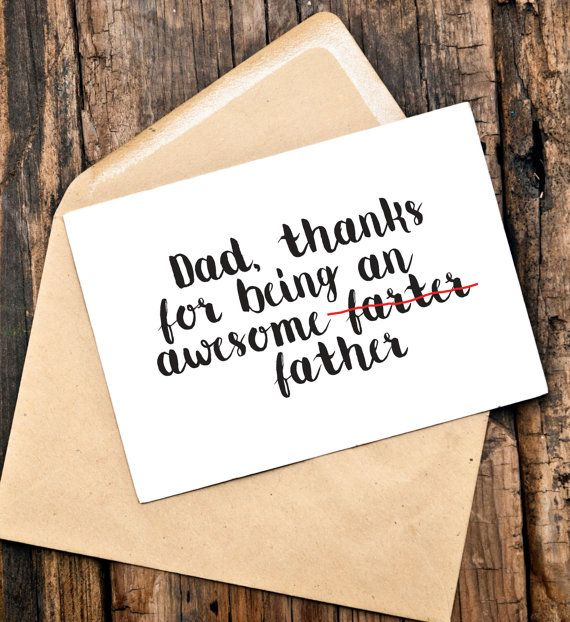 Funny Fathers Day Card Funny Card for Dad by TheLittlePiper