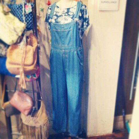 #vintage #dark #denim #dungaree #overalls $59