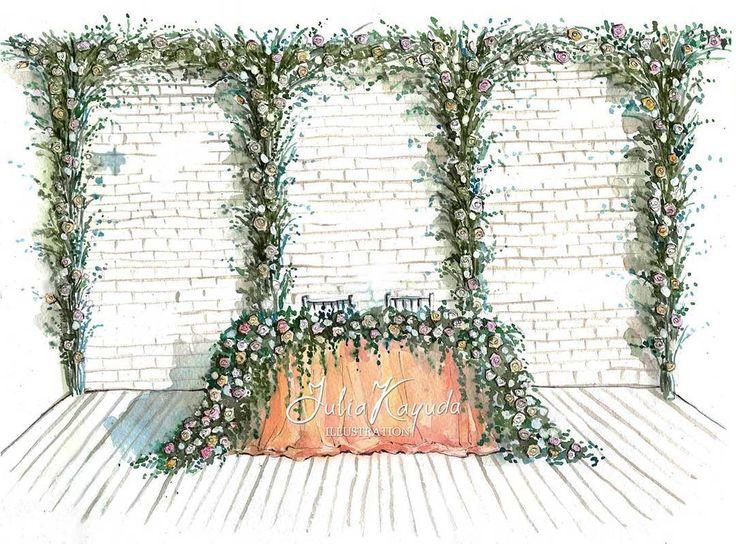 """38 Likes, 2 Comments - i0sik Юлия Каюда (@i0sikkayuda91) on Instagram: """"А вот и сама работа для @buket.io #illustrations #illustrator #weddingdecor #wedding…"""""""