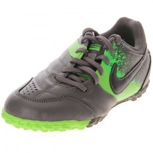 SALE - Kids Nike Bomba TF Soccer Cleats Gray Leather - Was $40.00 - SAVE $4.00. BUY Now - ONLY $35.99