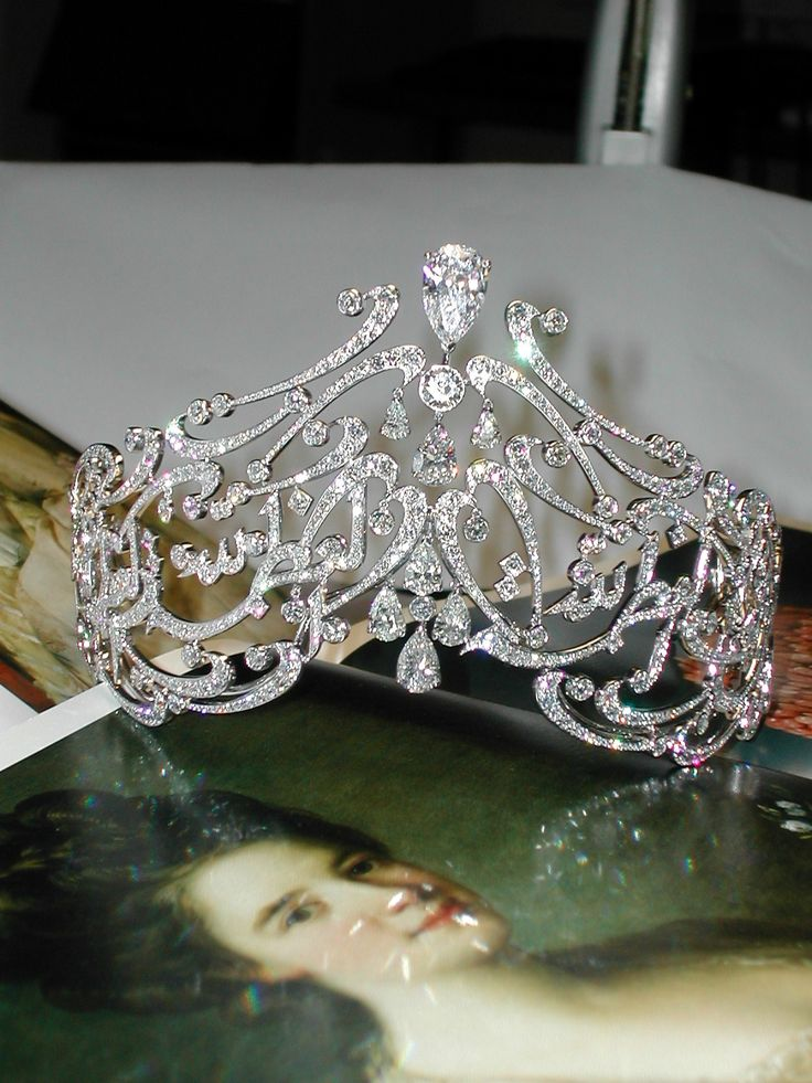 An Arabic Scroll tiara