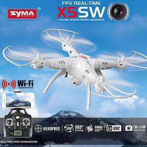 Syma X5SW WIFI FPV 2.4Ghz 4CH 6-Axis RC Quadcopter Drone 2MP Camera HD White RTF #Syma #Drone #Gadget #Fly #Flying #Forsale #Ebay @ebay