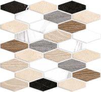 Porcelain tiles - Hati mosaic multicolor 31'8X29 cm. | Arcana Tiles | Porcelain tile | marble  inspiration | interior design