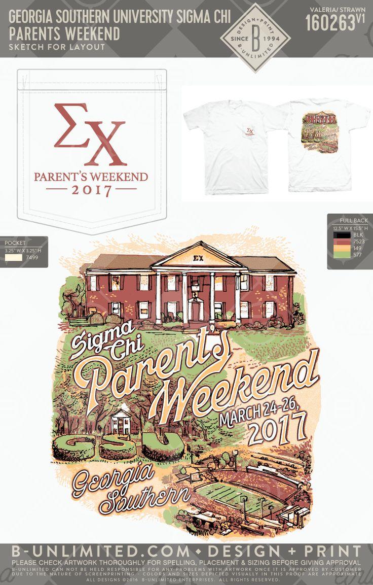 Parent's weekend. Best weekend! Georgia Southern- Sigma Chi #BUonYOU #greek #greektshirts #greekshirts #fraternity #SigmaChi #ParentsWeekend