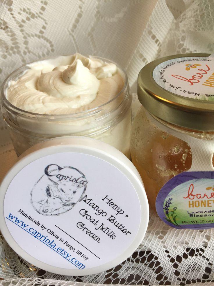 A personal favorite from my Etsy shop https://www.etsy.com/listing/475148270/hemp-mango-goat-milk-lotion-honey