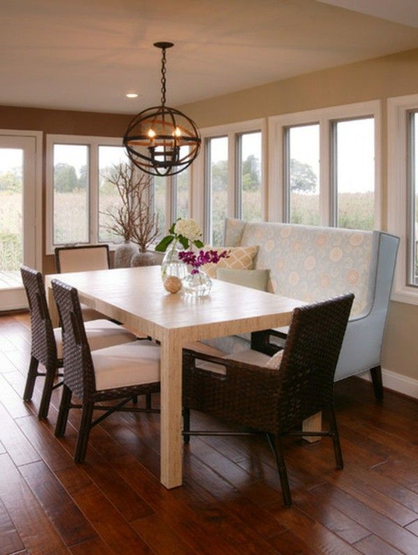 Couches and benches dining room chair chandelier table