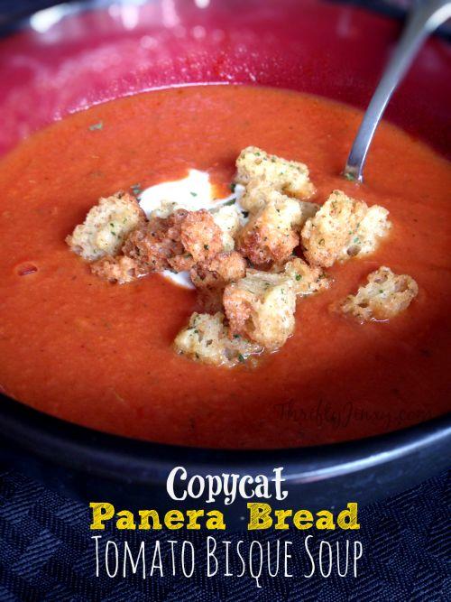 Copycat Panera Bread Tomato Bisque Soup Recipe - Thrifty Jinxy