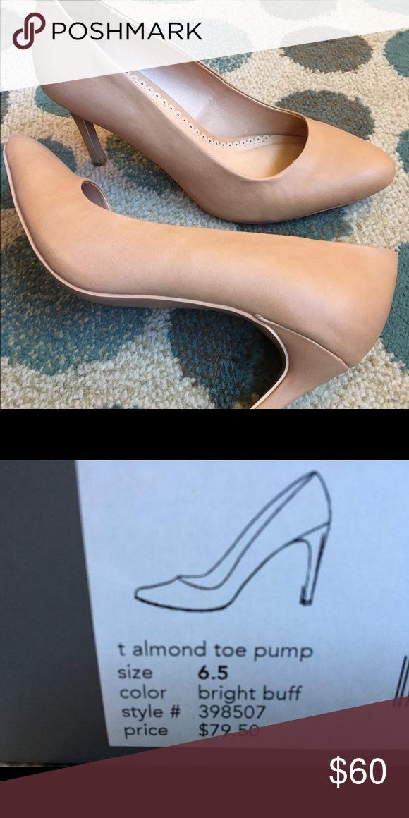 Ann Taylor- Neutral pump Great condition. Worn once. Ann Taylor- almond toe pump. Ann Taylor Shoes Heels