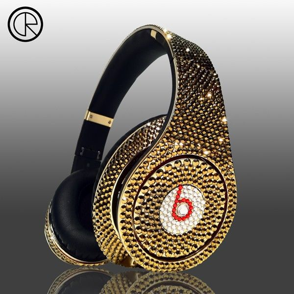 Studio Headphones with Swarovski Crystals