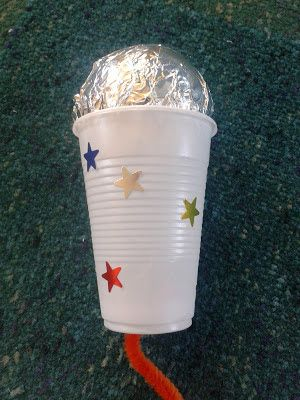 Flame: Creative Children's Ministry: Talking to God microphone craft for 3-5s