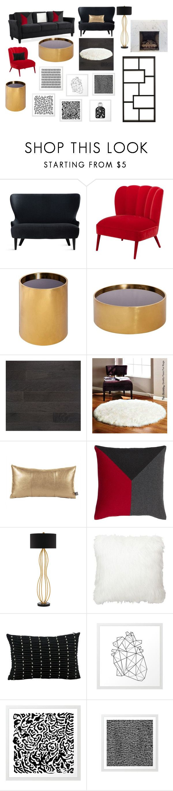 """""""living room"""" by langleypaige on Polyvore featuring interior, interiors, interior design, home, home decor, interior decorating, Tom Dixon, Jonathan Adler, Currey & Company and Sassa"""