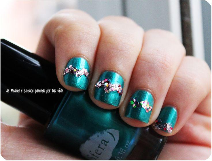 Glitter/Perlado, blue, green, pink, circus, rosa, verde, azul, sfera, essence, manicure, manicura, zigzag