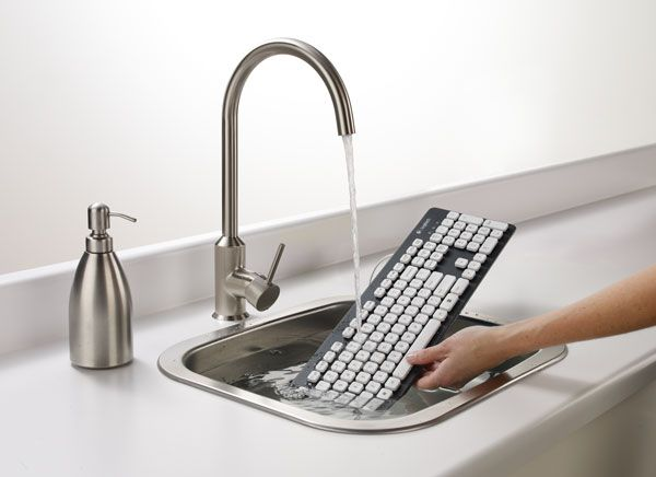 Logitech's Washable Keyboard K310 doesn't mind a good scrubbin', hits shelves this month for $40: Geek, Idea, Technology, Keys, Logitech Washabl, Washabl Keyboard, Keyboard K310, Products, Kid