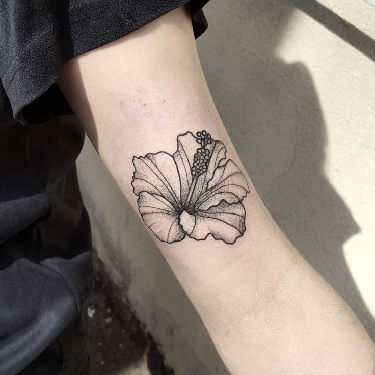32 best hibiscus tattoo tumblr images on pinterest hibiscus hibiscus flower tattoo on the bicep little tattoos for urmus Gallery
