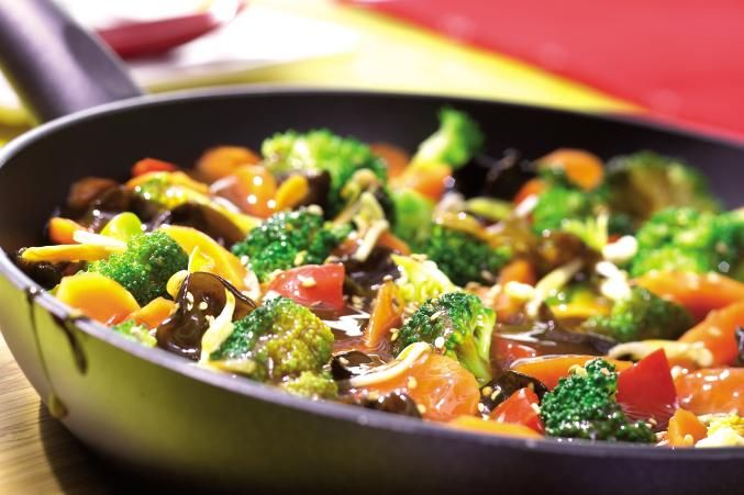 Chinesische Gemüse-Pfanne