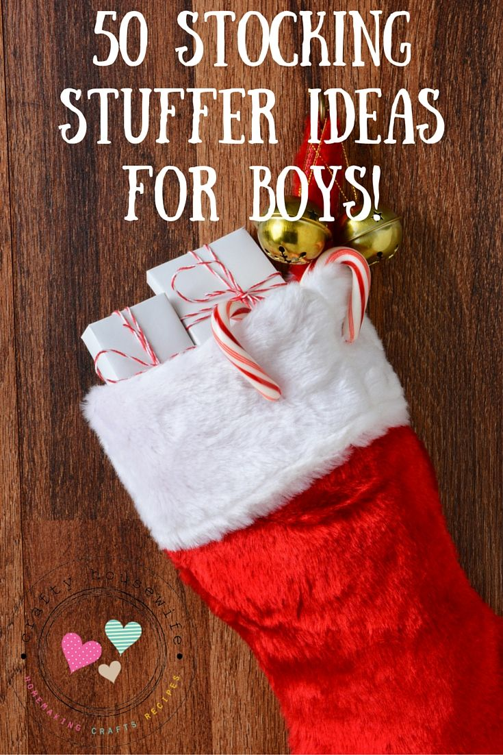 If you're looking for stocking stuffers for kids check out this list of 50 stocking stuffer ideas for boys! Great Christmas gift ideas that kids will love!