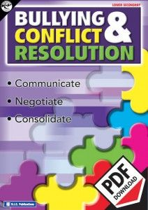 Bullying and conflict resolution upper primary lower high school teacher resource. Communicate, negotiate and consolidate. Ebook PDF format.