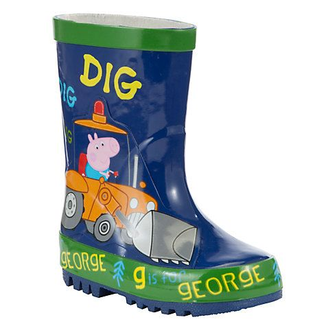 Keep your little piggy's feet dry with these adorable George Pig wellies, online at johnlewis.com