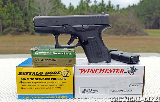 Massad Ayoob Tests the GLOCK 42 .380 ACP Compact Handgun Next-gen deep-cover pistol offers 6+1 rounds of backup firepower!  PRESENTED BY By Massad Ayoob | December 18th 2014, 12:09 PM