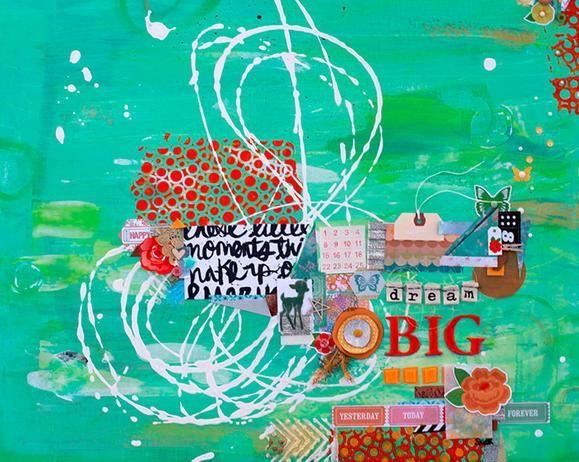 Dream Big Canvas #mixedmedia www.fiskars.com