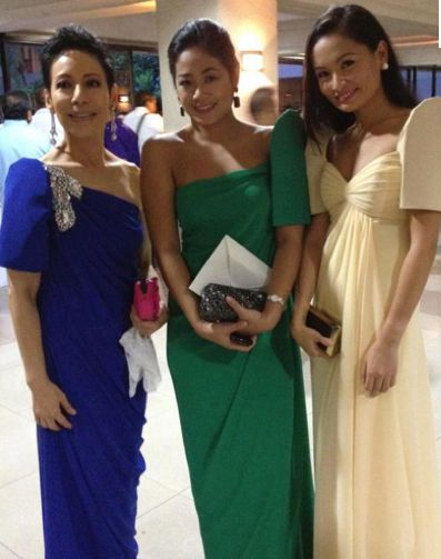 Mestiza/ terno dress variations. Love the center one... maybe for the maids of honor